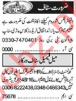 Executive Manager & Admin Manager Jobs 2021 in Lahore