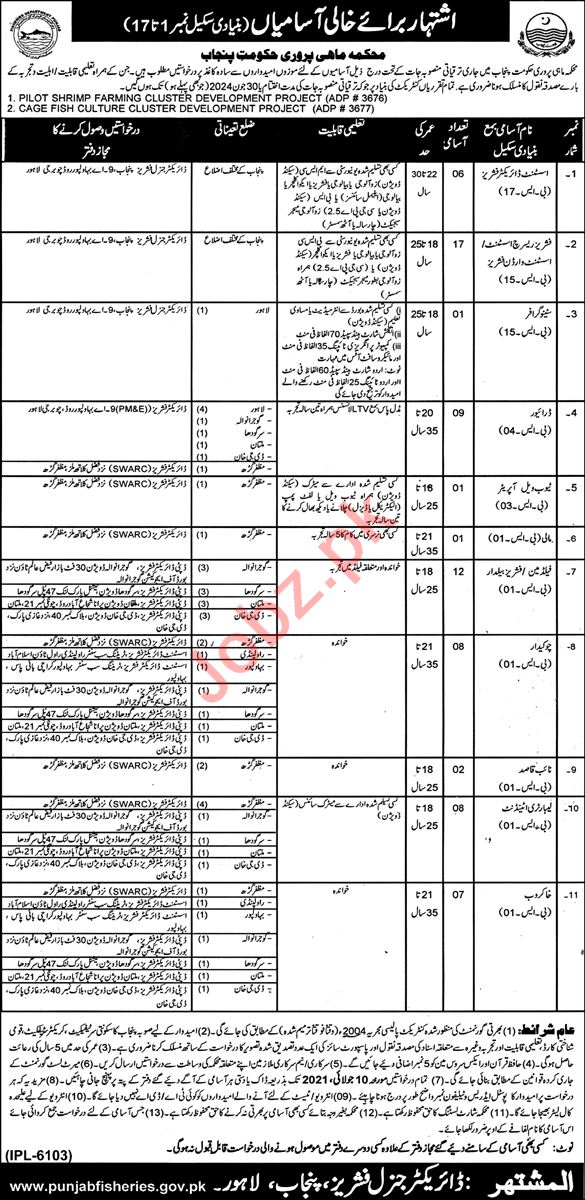 Cage Fish Culture Cluster Development Project Jobs 2021