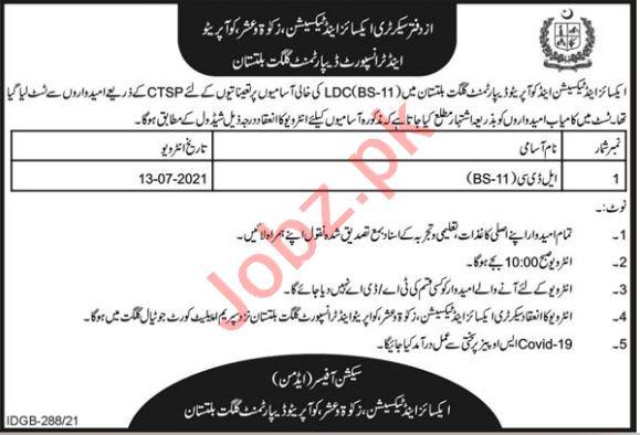 Excise & Taxation Zakat & Ushr Cooperative & Transport Jobs