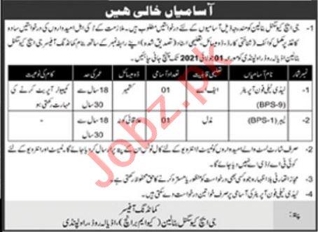Pak Army GHQ Signal Battalion Rawalpindi Cantt Jobs 2021