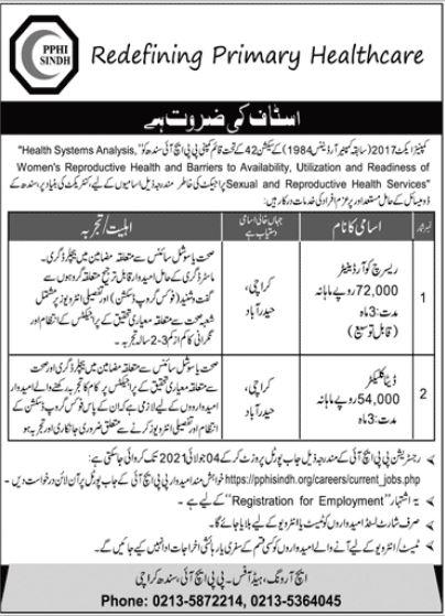 PPHI Sindh Jobs 2021
