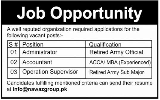Nawaz Group Jobs in Multan