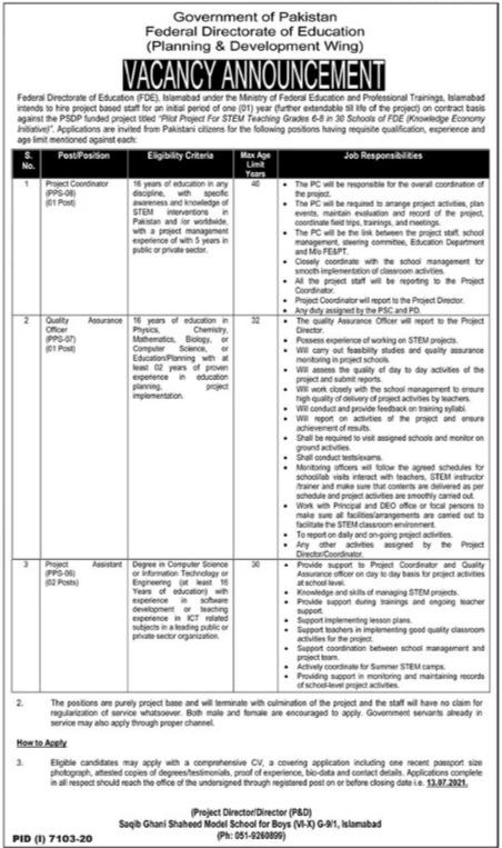 Project Coordinator Quality Assurance Officer Jobs 2021