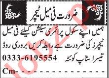 Coordinator & Section Head Jobs 2021 in Quetta