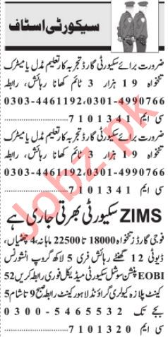Security supervisor & Security Incharge Jobs 2021 in Lahore