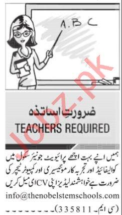 Montessori Teacher & Computer Teacher Jobs 2021 Islamabad