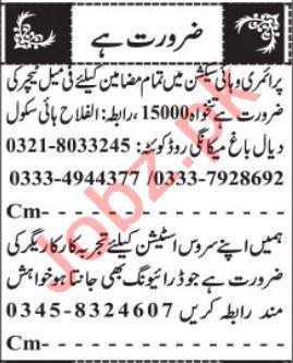 AC Technician & Steel Fixer Jobs 2021 in Quetta