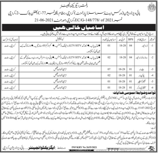 Highways Division Jobs 2021 For Non Technical Staff