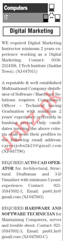 The News Sunday Classified Ads 27 June 2021 Computer Staff