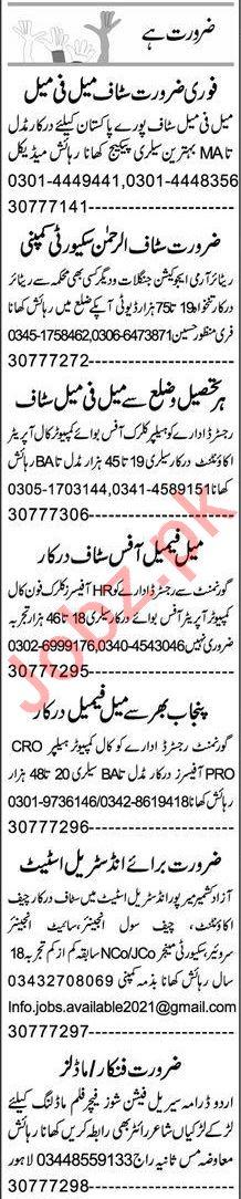 Express Sunday Rahim Yar Khan Classified Ads 27 June 2021
