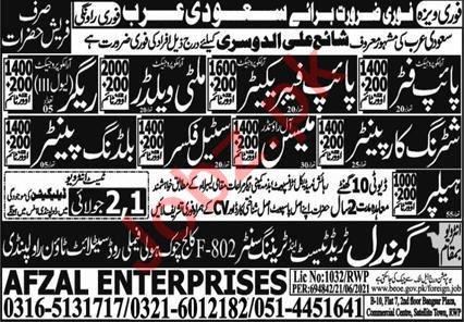 Pipe Fabricator & Building Painter Jobs 2021 in Saudi Arabia