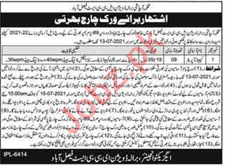 Barala Division LLC East Faisalabad Irrigation Jobs 2021