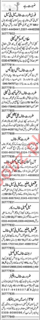 Assistant Supervisor & HR Officer Jobs 2021 in Faisalabad