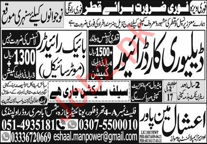 Delivery Car Driver & Bike Rider Jobs 2021 in Qatar