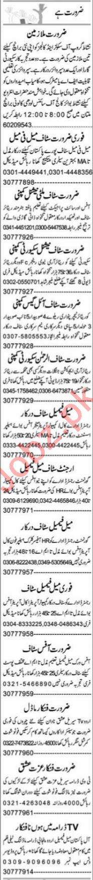 Purchase Assistant & Admin Manager Jobs 2021 in Multan