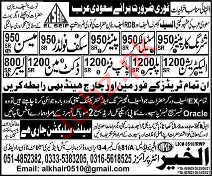 Scuff Folder & Docket Man Jobs 2021 in Saudi Arabia