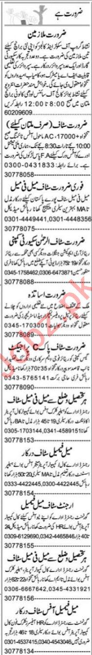 Secretary & Finance Manager Jobs 2021 in Multan