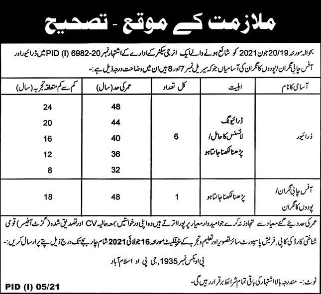 Energy Sector Jobs 2021 For Miscellaneous Staff