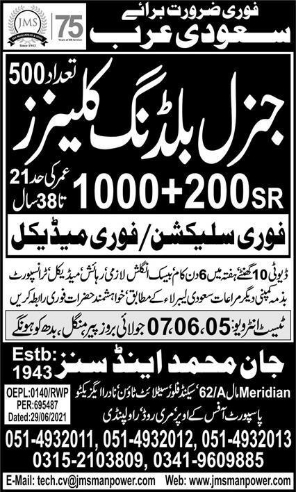 General Building Cleaners Jobs 2021 In Saudi Arabia