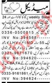 Aaj Sunday Classified Ads 4 July 2021 for Medical Staff