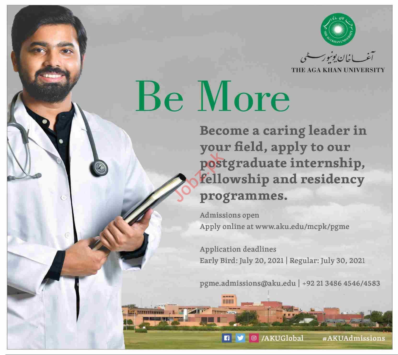 The Aga Khan University AKU Postgraduate Internship 2021