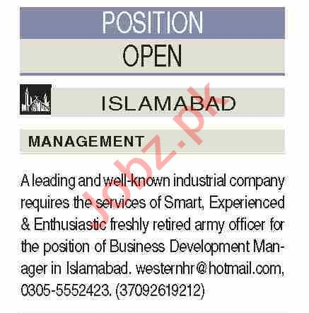 Business Development Manager & Account Manager Jobs 2021