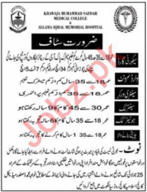Khawaja Muhammad Safdar Medical College Jobs Security Guards