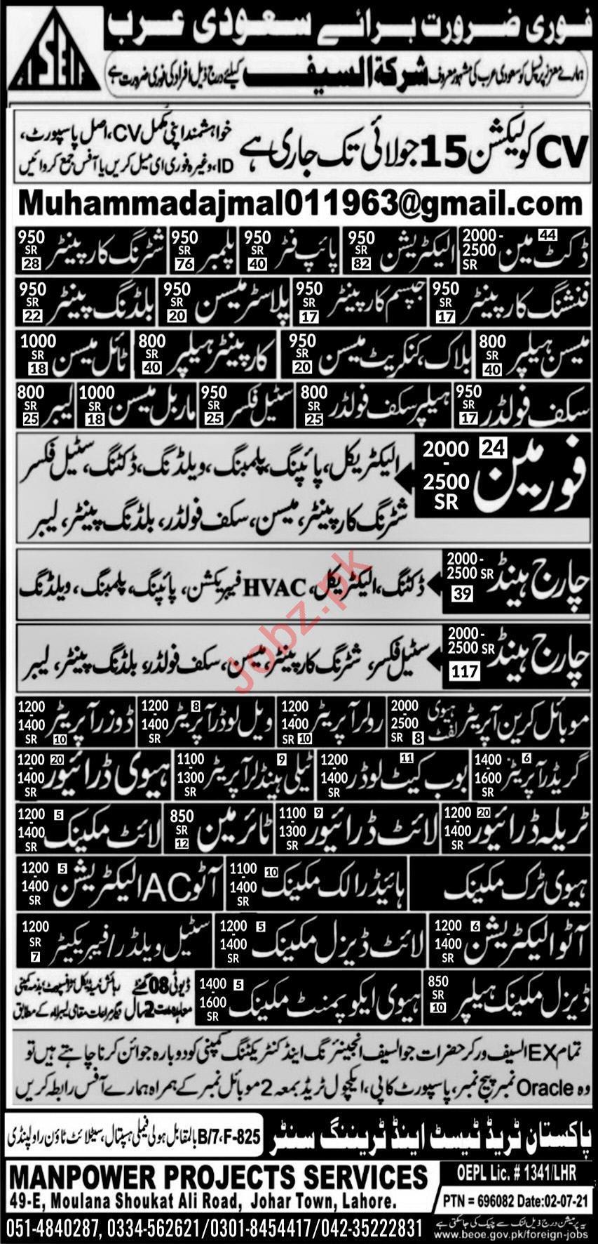 Docket Man & Gypsum Carpenter Jobs 2021 in Saudi Arabia