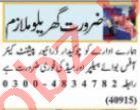 Domestic Staff Jobs Open in Lahore 2021