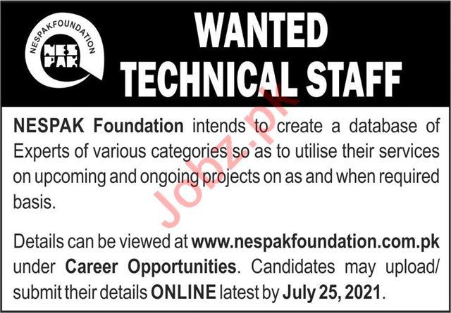 NESPAK Foundation Lahore Jobs 2021 for Engineers