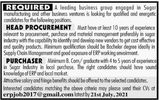 Business Group Jobs 2021 In Multan