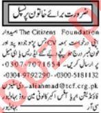 The Citizens Foundation TCF Bahawalpur Jobs 2021