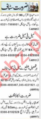 Assistant Manager & Computer Operator Jobs 2021 in Lahore