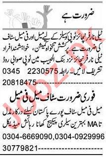Telephone Operator & Computer Operator Jobs 2021 Peshawar