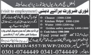 Kitchen Staff Jobs in Dubai
