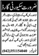 Lahore Press Club Jobs 2021 for Security Guard
