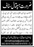 Chaudhry Rehmat Ali Trust Hospital Jobs 2021