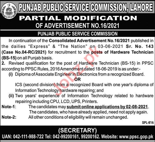 Punjab Public Service Commission PPSC Jobs August 2021