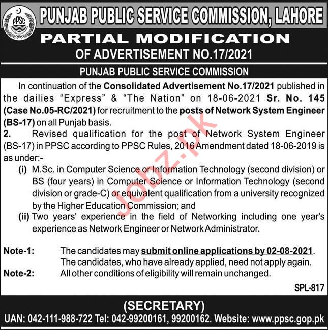Engineers Jobs 2021 in Punjab Public Service Commission PPSC