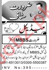 Lady Doctor & Lab Technician Jobs 2021 in Peshawar