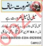 Call Operator & Admin Manager Jobs 2021 in Lahore