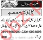 Marketing Manager & Branch Manager Jobs 2021 in Lahore