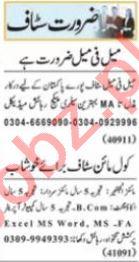 Nawaiwaqt Sunday Classified Ads 25 July 2021 Office Staff