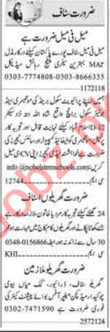 Dunya Sunday Classified Ads 25 July 2021 for Computer Staff