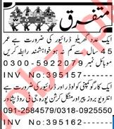 Aaj Sunday Classified Ads 25 July 2021 for Driving Staff