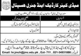 Medicare Cardiac & General Hospital Jobs 2021 In Karachi