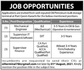 Oil Company Jobs 2021 In Karachi