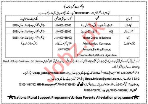 National Rural Support Programme NRSP Jobs 2021