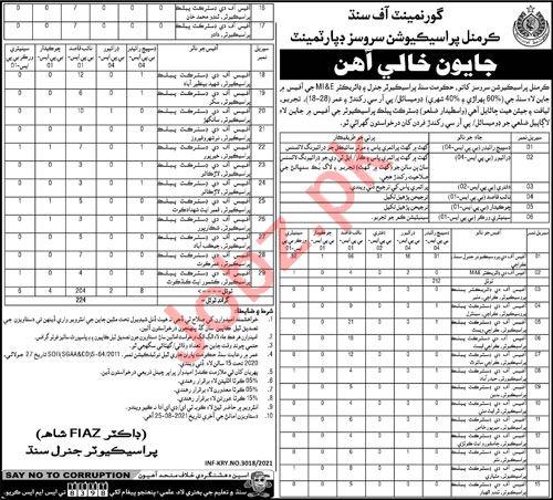 Criminal Prosecution Services Department Sindh Jobs 2021