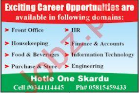 Hotel One Skardu Jobs 2021 for HR Officer & Finance Officer